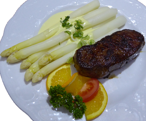 Spargel Rumpsteak